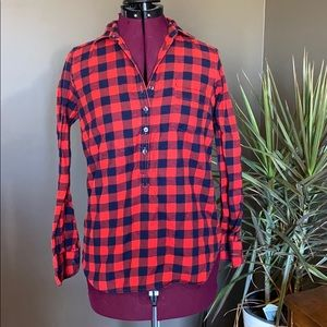 J. Crew Perfect Fit Flannel Tunic